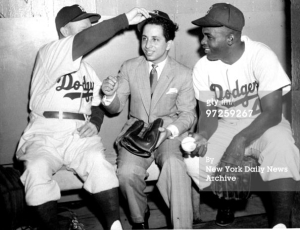 Chuck Dressen, Faisal II of Iraq, and Jackie Robinson
